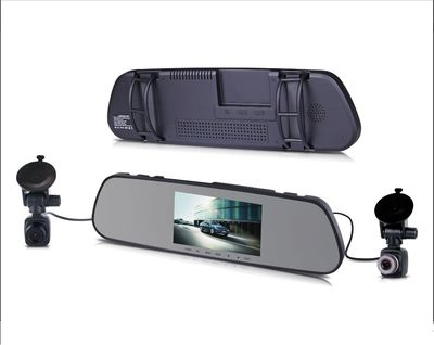 Rearview mirror driving recorder